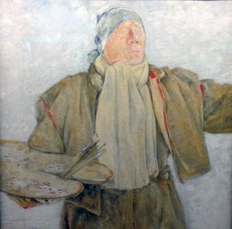 Olaf Gulbransson Selbstporträt, 17 Grad unter Null