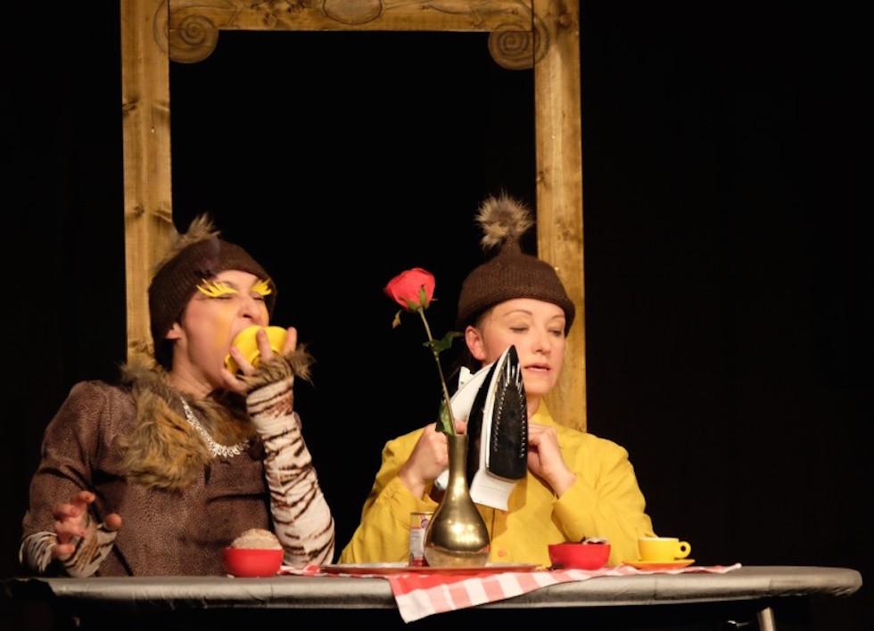 Landkreis-Premiere Kunstdünger e.V. : Lydia Starkulla und Christiane Ahlhelm