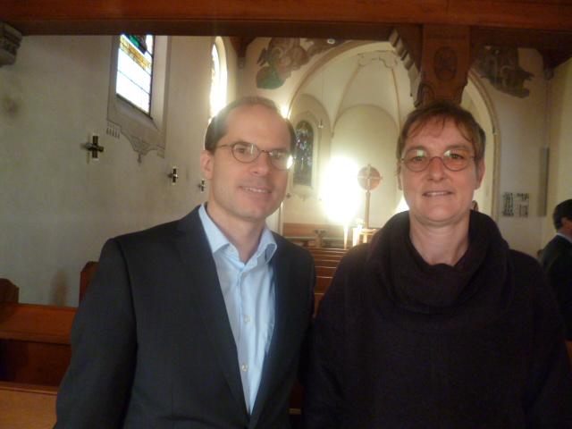 Pfarrer Erwin Sergels und Pfarrerin Melanie Striebeck