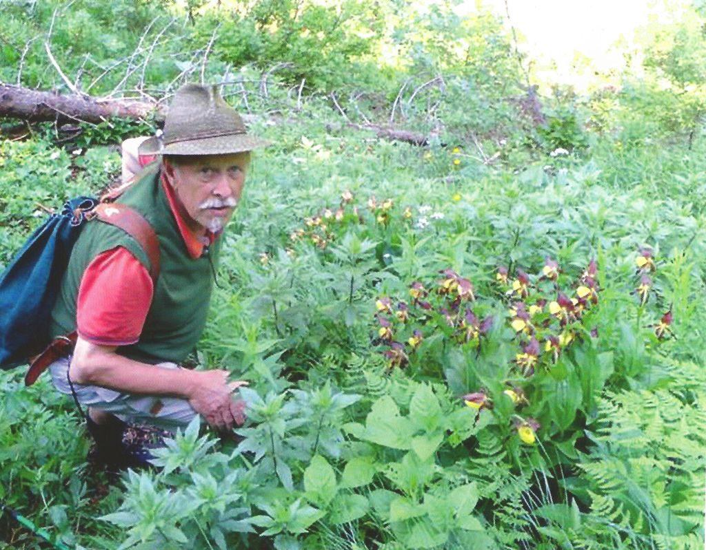 Klaus Altmann bei den Orchideen-Horsten