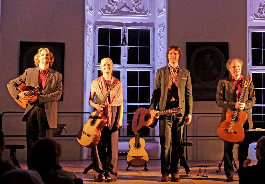 Machado Quartett: Ingo Veit, Stefanie Kobras, Bernhard Prüflinger und Perry Schack (v.l.).
