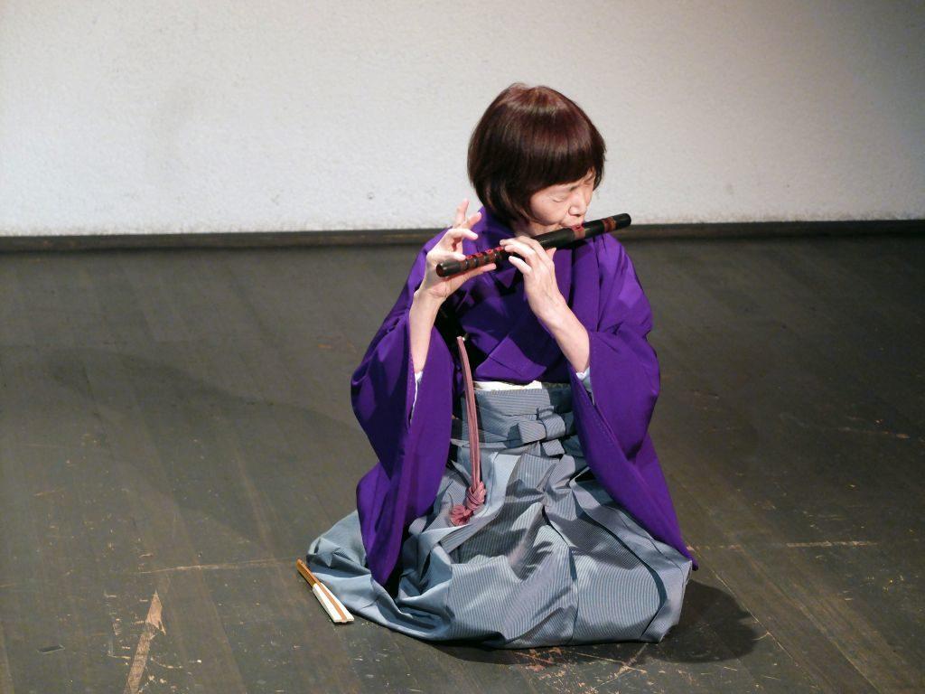 Faszinierende, fremde Klänge: Flötistin Kinuyo Kama.