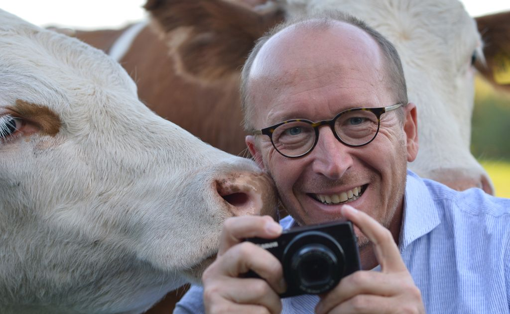 Der Fotograf Thomas Plettenberg mit seinem Lieblingsmotiv.