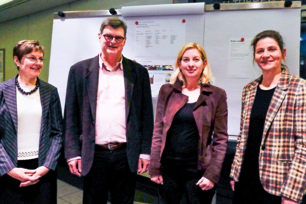 Der neue Vorstand Kulturvision Rebecca Köhl, Rolf Brandthaus, Ines wagner, Katja Klee (v.l.).