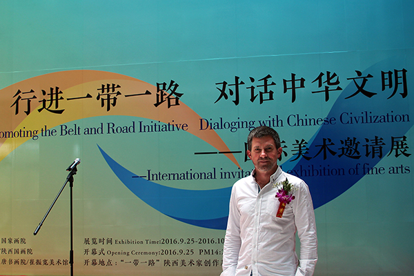 TOBEL in Xi'an vor dem Musem für zeitgenössische Kunst