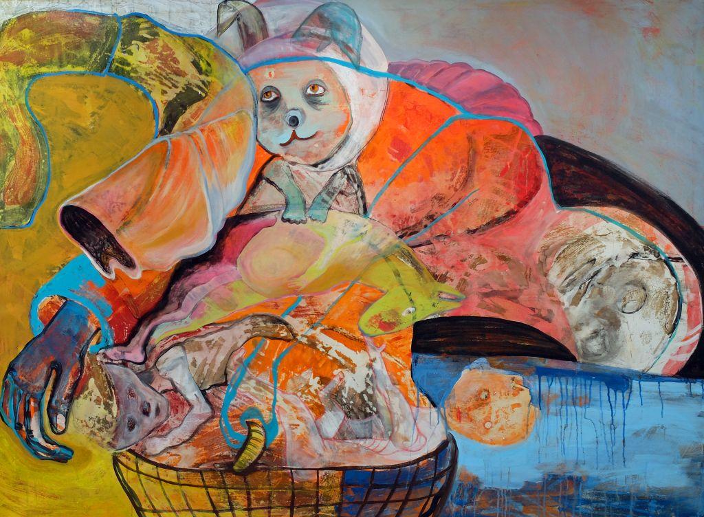Katharina Schellenberger: die titellosen Werke laden zum sich selbst entdecken und versenken ein