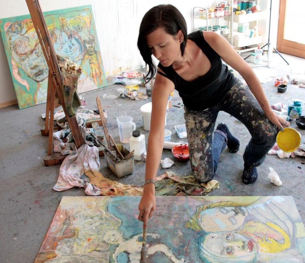 Katharina Schellenberger in ihrem Atelier