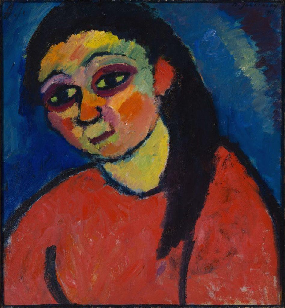Franz Marc Museum in Kochel - Alexej von Jawlensky: Frau mit roter Bluse.