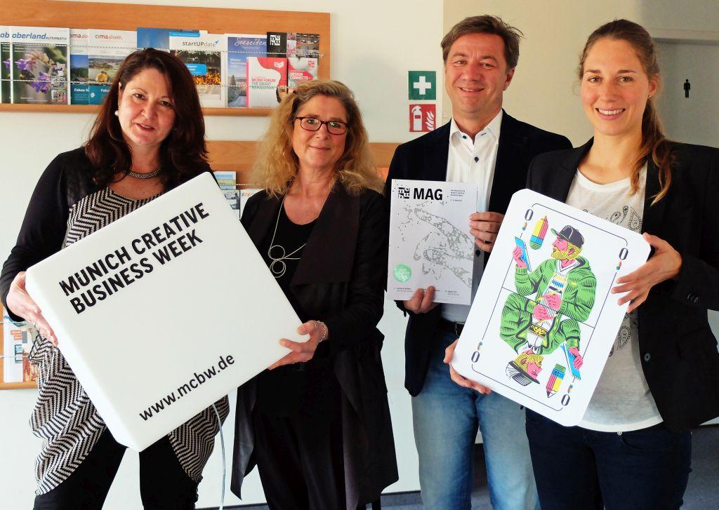 Sabine Unger und Nina Shell (beide Munich Creative Business Week), Alexander Schmid und Ingrid Wildemann-Dominguez (SMG)