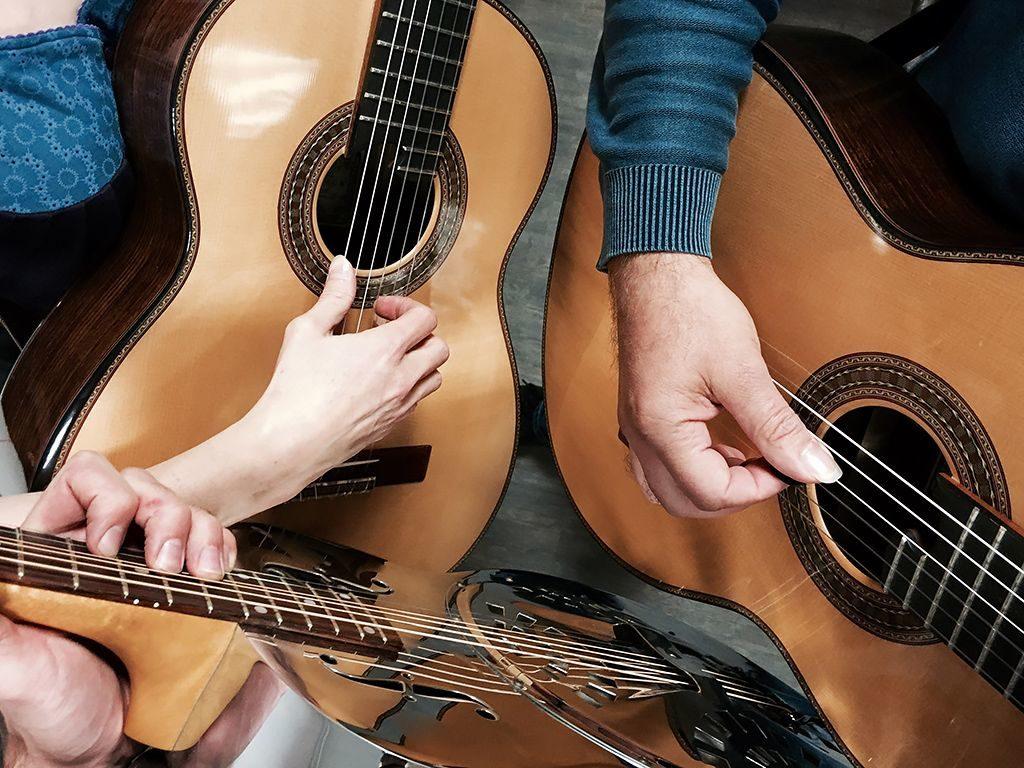 Gitarrentrio - miteinander verzupft: René Senn, Doris Leibold, Thomas Kohl