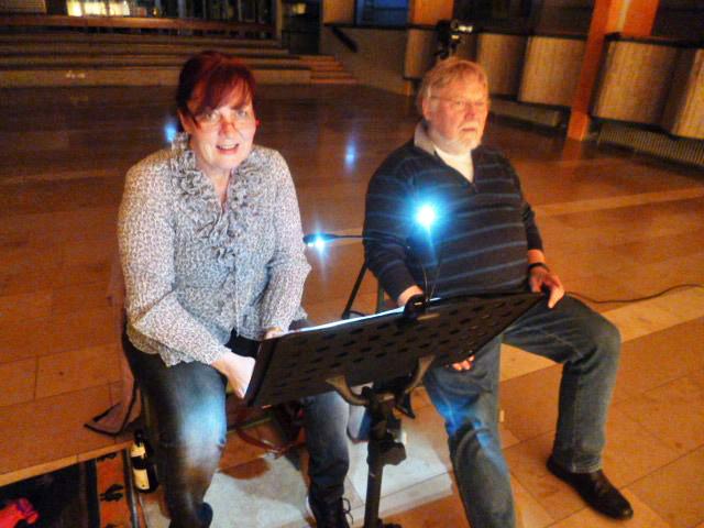 Simona Eckl und Walter Kohlhauf bei der Probe