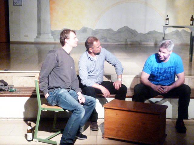 Die drei Kartenspieler: Klaus Ruml, Paul Martin und Stefan Rühl, Orff-Aufführung, Walther Kohlauf