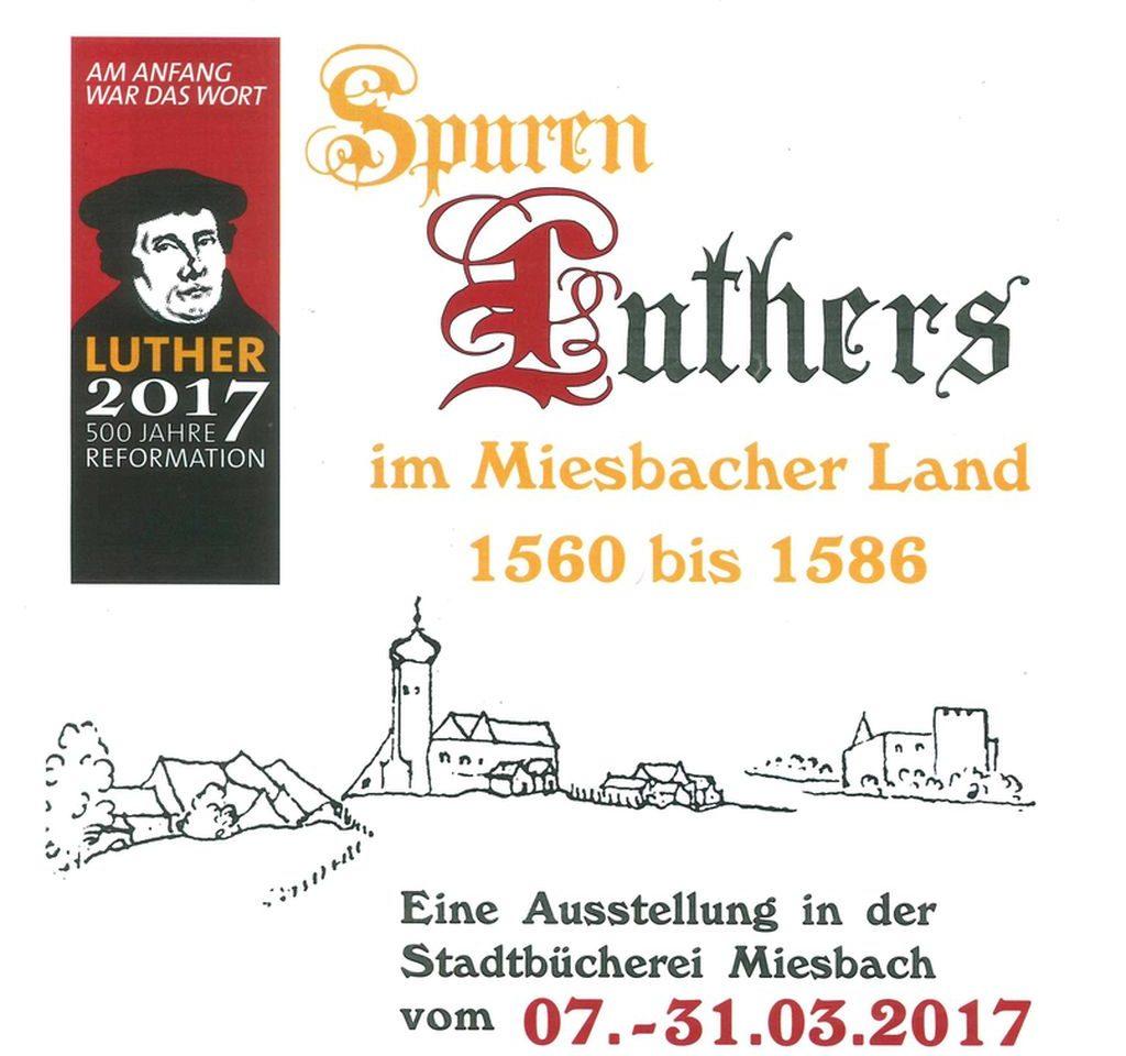 Schautafel zur Ausstellung von Friedrich Woltereck zur Reformation im Miesbacher Oberland