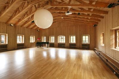 Naturhotel Tannerhof Bayrischzell - der Saal mit besonderer Akustik