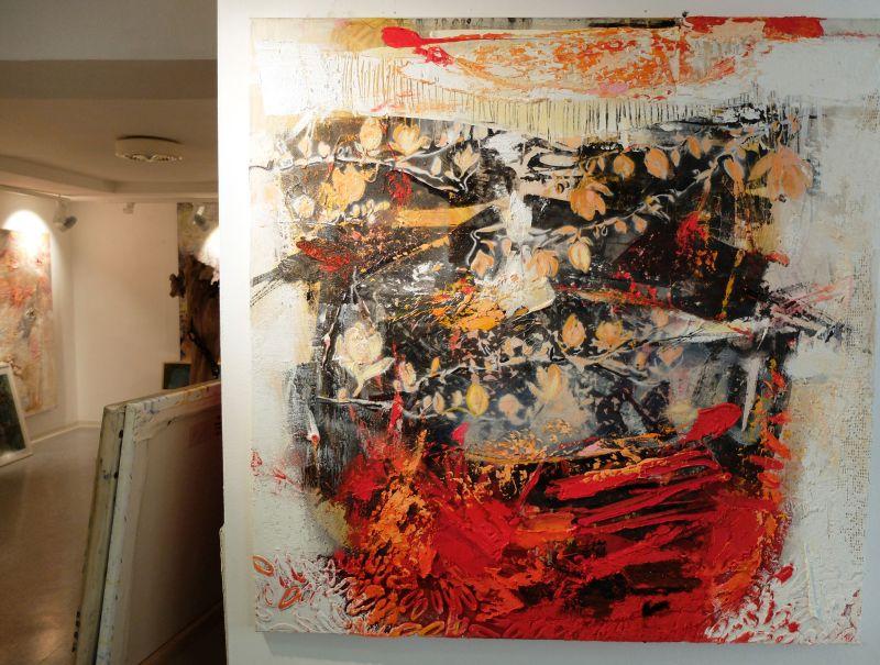 Georg Brandner: Collage in der Galerie ARTEG bei Michael Böhnke in Tegernsee