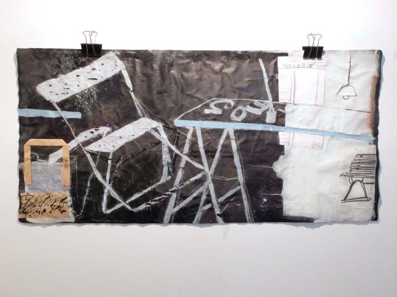 """Kunstausstellung Bayrischzell - Brigitte Guggenmos: """"Werkstatt"""", Collage"""