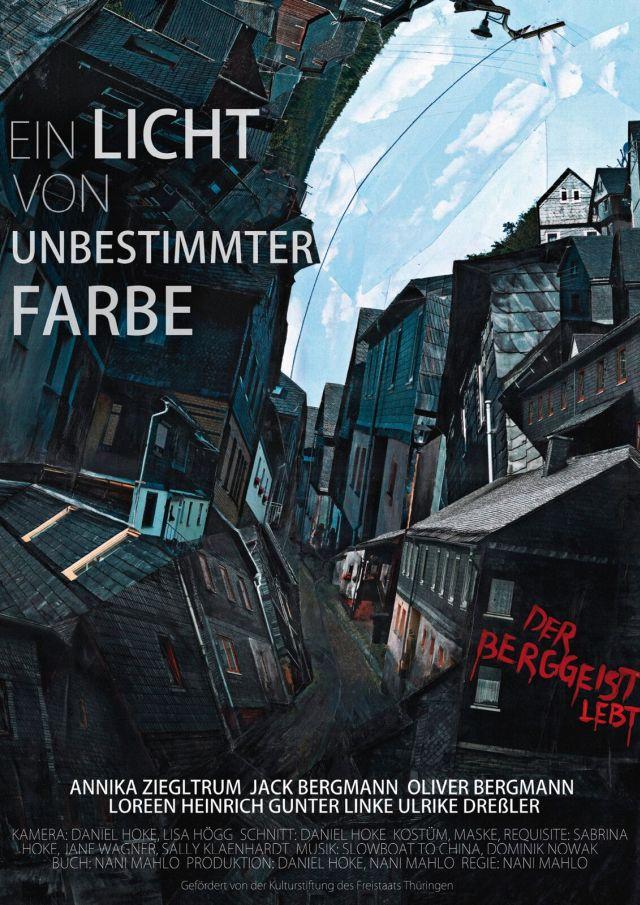 """beim Lichtbildfestival: Filmplakat: Nani Mahlos Kurzfilm """"Ein Licht von unbestimmbarer Farbe"""". Foto: KN"""