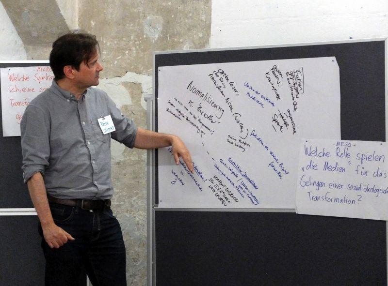 taz-Redakteur Peter Unfried beim Zukunftsworkshop