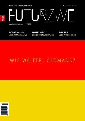 """Titelblatt 2. Ausgabe """"Wie weiter, Germans?"""""""