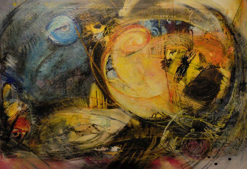 Hilge Dennewitz: Nach Musik von G. Holst (die Planeten) - Ausstellung Gruppe Delta