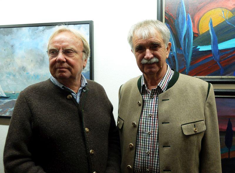 Kurt Gmeineder (rechts) und Laudator Hans Weidinger.