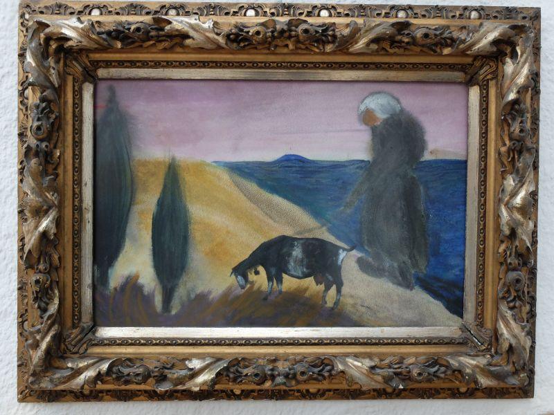 Kurt Gmeineser: Ziegenbild wählte Herbert Beck für die Tegernseer Kunstausstellung