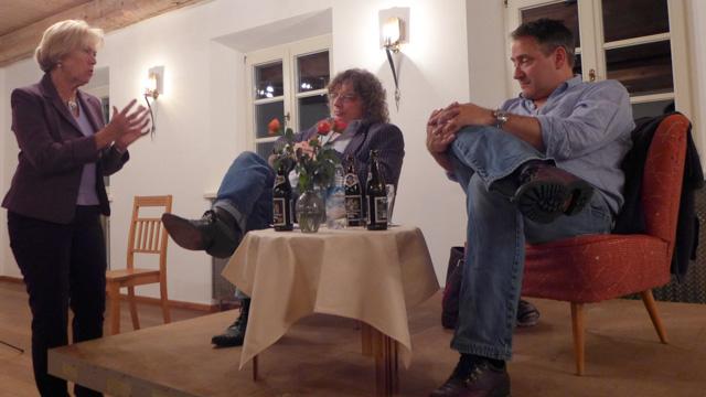 Moderatorin Monika Ziegler, Matthias Striebeck und Martin Calsow (v.l.).