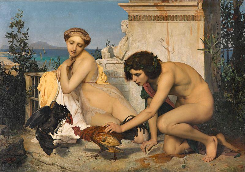 Jean-Léon Gérôme (1824-1904): Junge Griechen beim Hahnenkampf, 1846, Musée d'Orsay.
