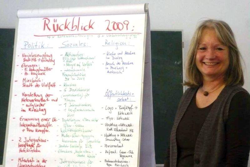 Lisa Braun-Schindler bei ihrer Arbeit für Integration und Migration