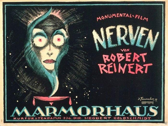 """Plakat des Stummfilms """"Nerven"""" aus dem Jahr 1919"""