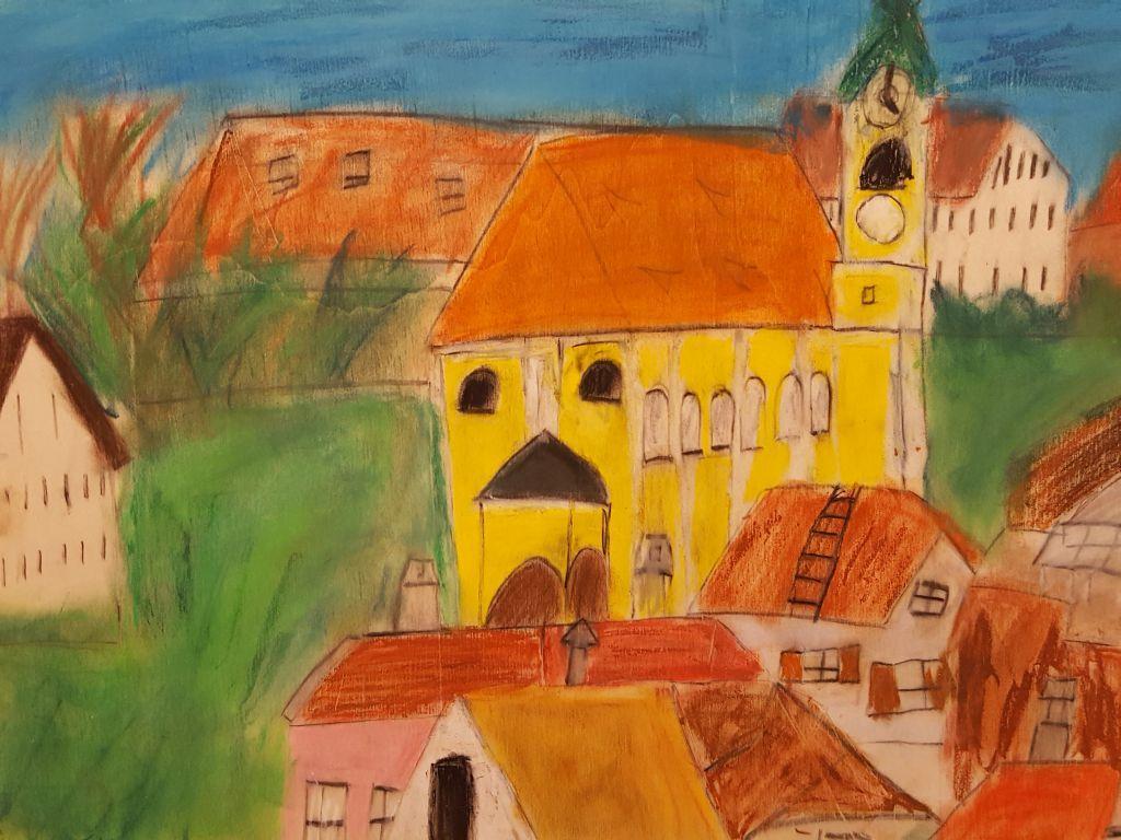Sophia Lendaro: Blick über Miesbach.