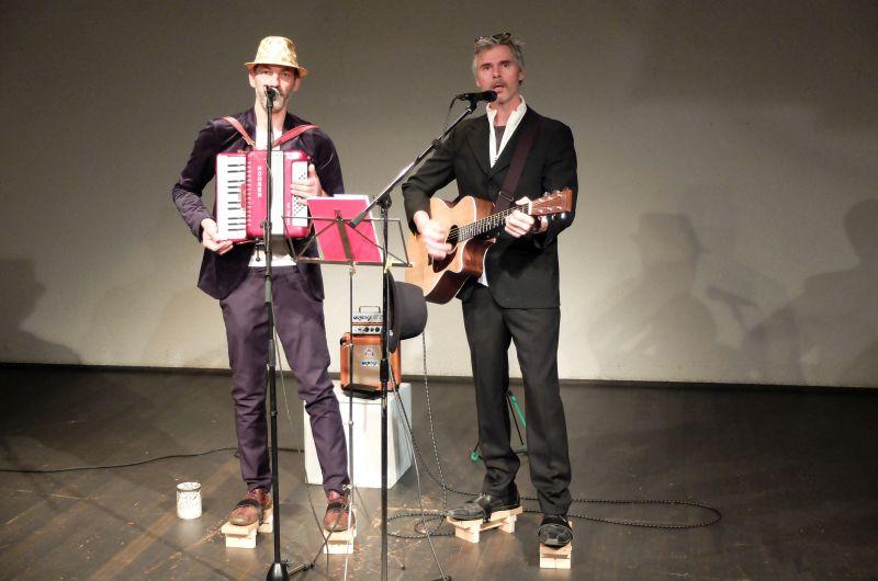 Bertram Wolter und Andreas Schantz (v.l.) alias Esel:com