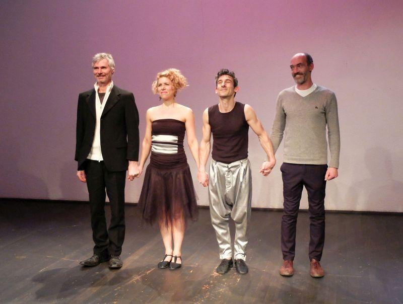 Andreas Schantz, Bertram Wolter als Esel:com und Ana Vrbaški und Marko Dinjaški alias Alice in Wonder-Band