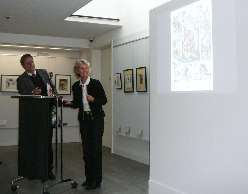 Ulrike Leutheusser und Dr. Michael Stephan im Gulbransson-Museum. Foto: Klee