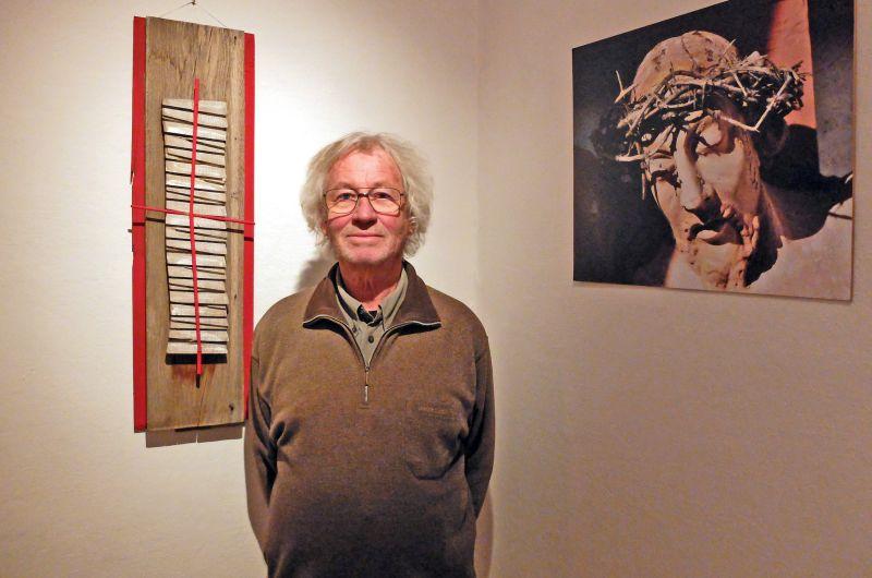 """Künstler Peter Remmling aus Bad Tölz - ein """"christlicher Zen-Buddhist"""" Ausstellung """"Das Antlitz Christi"""""""