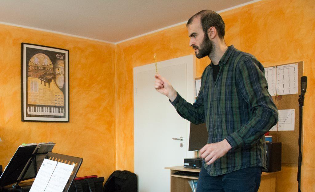 Marko Ševarlić unterrichtet leidenschaftlich gern Akkordeon