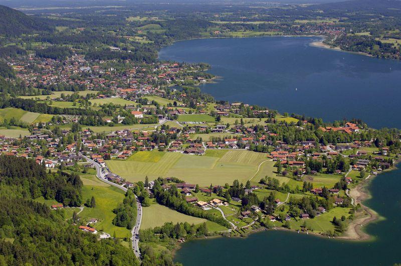 Blick von Bad Wiessee nach Gmund