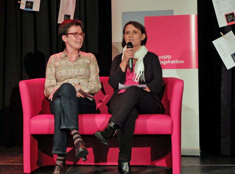 Ingrid Huber und Isabell Zacharias beim Kulturempfang der SPD Kultur verbindet