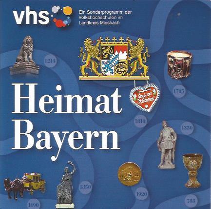 Programmheft VHS Verabstaltungen im Bayernjahr Bayern Fotos