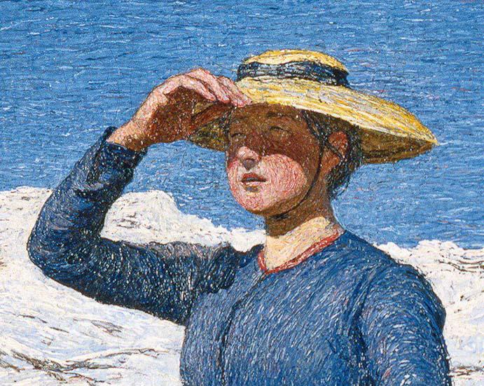 "Giovanni Segantini - ""Mittag in den Alpen"""