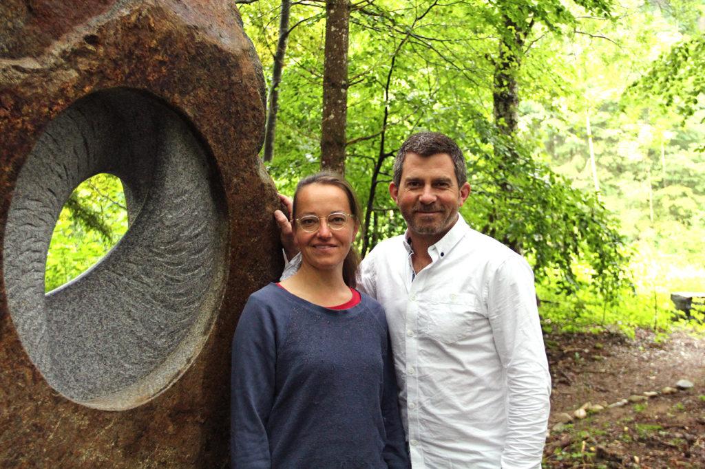 TOBEL & Christiane Ahlhelm mit Skulptur Lunar Cycle