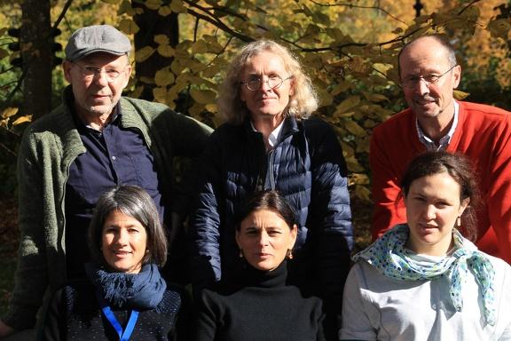 Bergfilmfestival Die Jury: Vorn: Ingrid Runggaldier, Lisa Röösli, Karla Braun-Elwert, hinten: Dr. Peter-Hugo Scholz, Adi Stocker und Festivalsdirektor Michael Pause (v.l.).