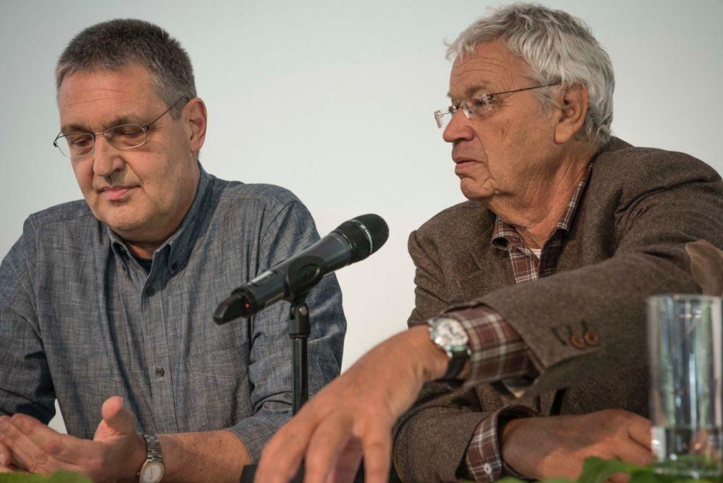 Markus Ederer und Gerhard Polt (v.l.) beim 3. Josefstaler Gespräch über Verständigungskultur.