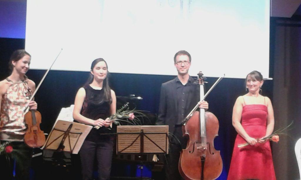Cathrin Paul und das Klaviertrio Katja Lämmermann, Miriam Heuberger, Ullrich Witteler (v.l.)