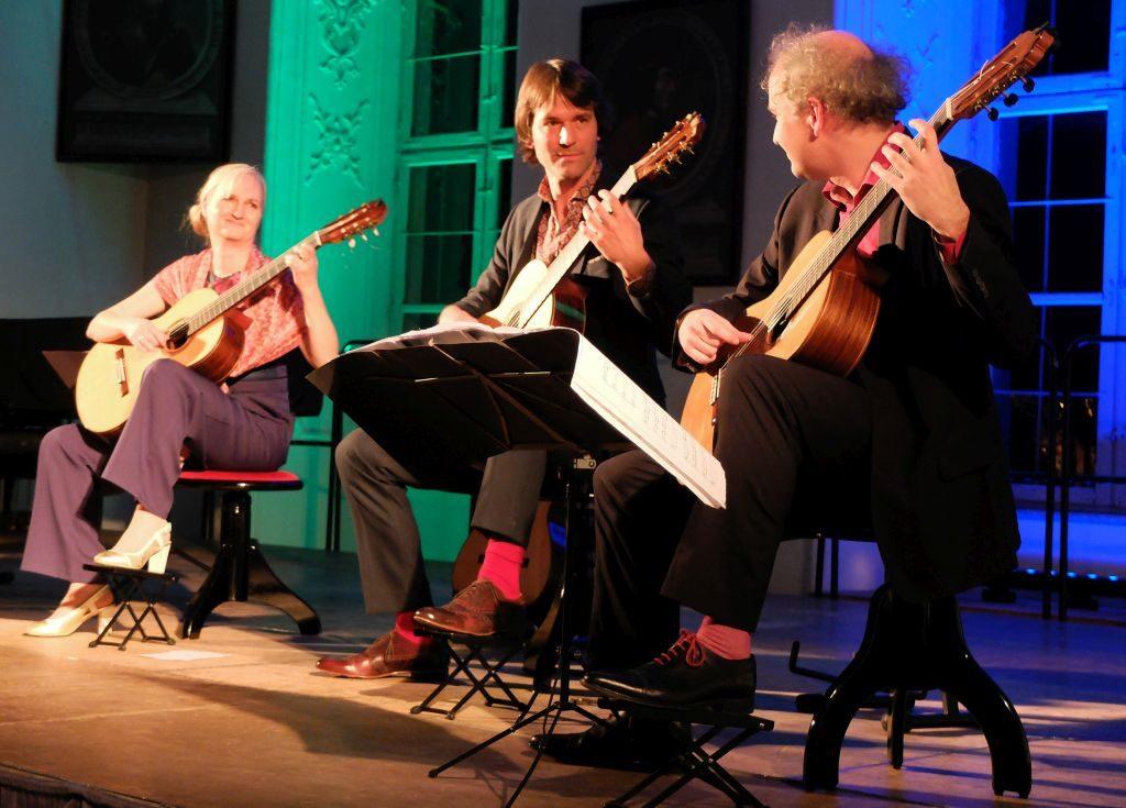 Machado Quartett - Fein abgestimmtes Spiel: Stefanie Kobras, Bernhard Prüflinger und Perry Schack (v.l.)