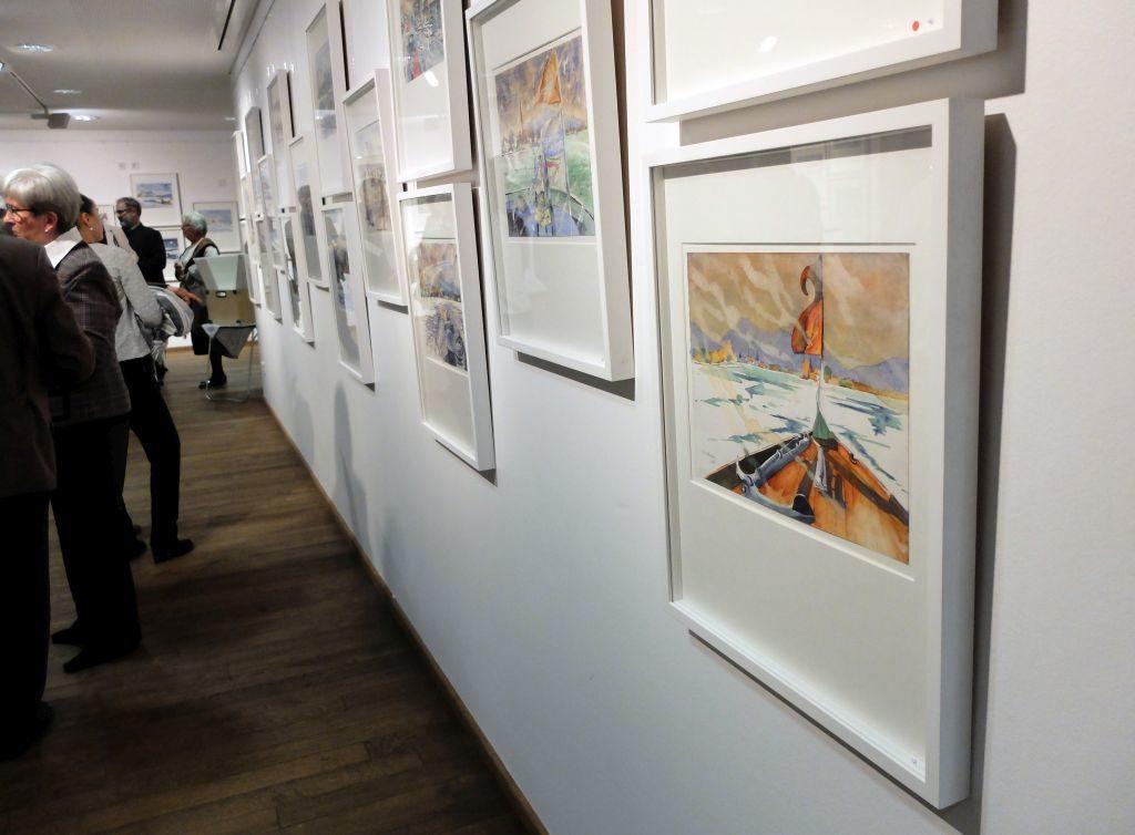 Blick in die Ausstellung von Klaus Altmann