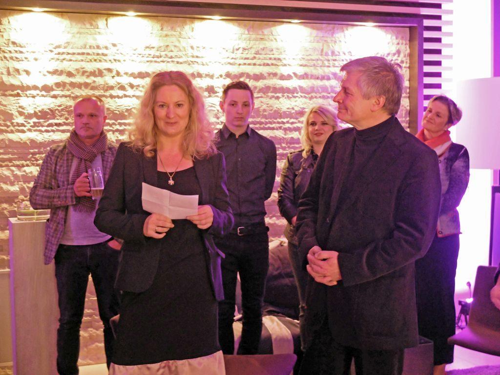 Peggy Neumann von der Galerie Orange und Andreas Thieme