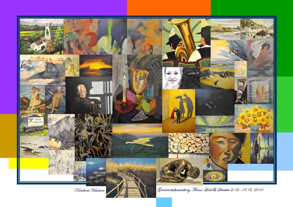 Gemeinschaftsausstellung des Kunstkreises Hausham. Collage. Foto: Leo Purmann