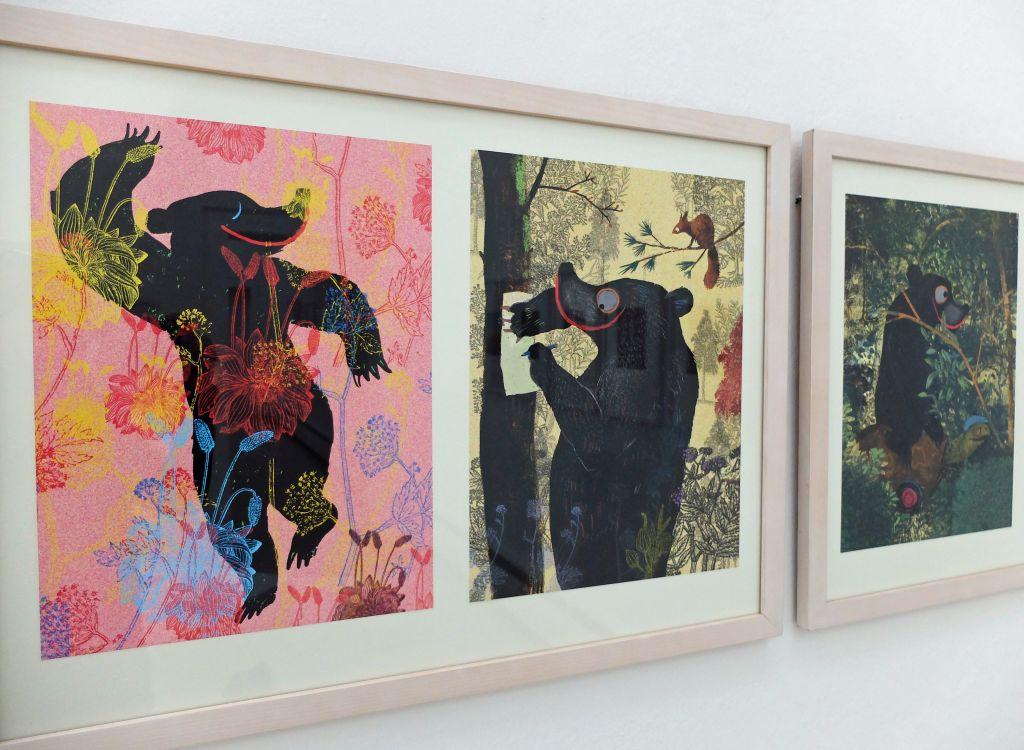 """Städtische Galerie Rosenheim - """"SELBÄR – die Kunst der Selbst(er)findung"""" Illustration Wolf Erlbruch, """"Der Bär, der nicht das war"""""""
