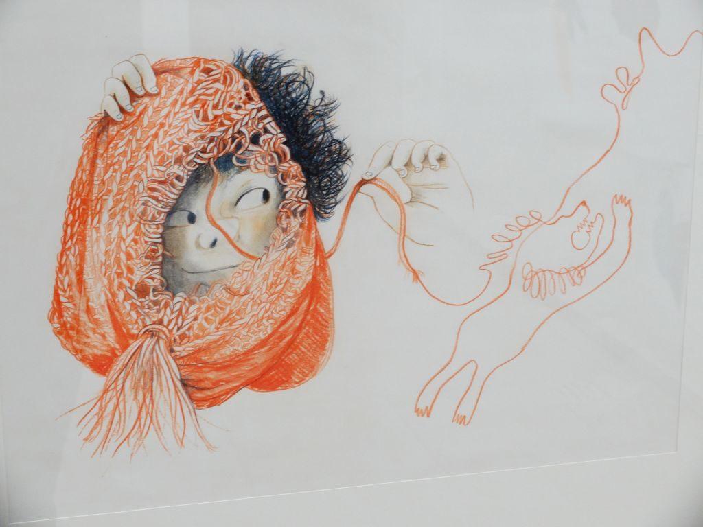 """Städtische Galerie Rosenheim """"Zum Kuckuck!"""" - Nele Palmtag: """"Max´ Mütze"""" NESTFLÜCHTER Oder: Eine Mütze fliegt von Tier zu Tier."""